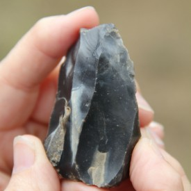 A 'text-book' example of a neolithic flint blade core